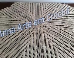 Toalha de Centro em Croch� -Redonda(cru)