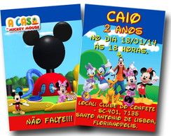 Revista colorir Convite Mickey 14x10