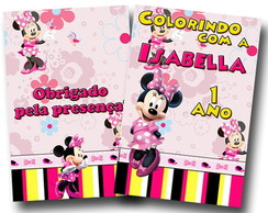 Revista colorir minnie