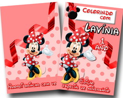 Revista para colorir minnie 14x10