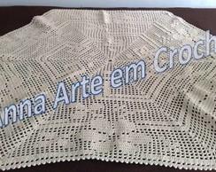 Toalha de Centro em Croch� - Hexagonal