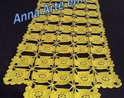 Caminho de Mesa - Quadrados (amarelo)