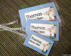 Kit 3 Bagtags - PHINEAS E FERB