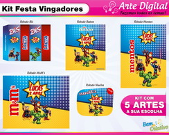 Kit Festa Vingadores Cute