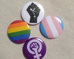 Kit 4 Bottons / Broches Pride