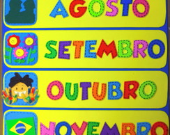CARTAZ MESES DO ANO