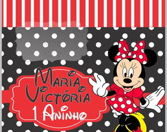 ARTE DIGITAL FESTA MINNIE VERMELHA