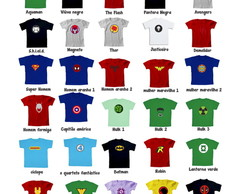 Monte Kit 12 Camisetas- Her�is - Algod�o
