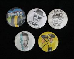Kit 5 Bottons/Broches Breaking Bad