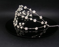 Tiara com strass CR120