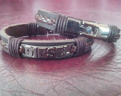 Pulseira Masculina Diesel couro