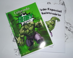 Kit de colorir Hulk 15x21