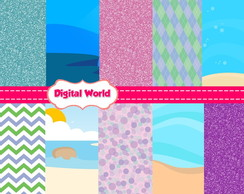 Kit Scrapbook Digital - A Pequena Sereia