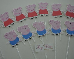 Topper doces/cupcakes Peppa Pig