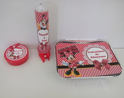 Kit Festa Personalizado Minnie 3 Pcs