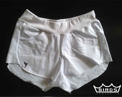 Short de moletom branco birds