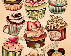 Placa Decorativa Cupcake