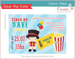 Save the Date Digital Circo Azul