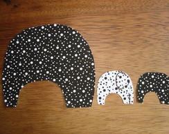 """Aplique """"Elefantes"""""""