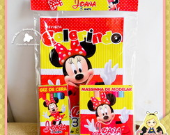 Kit Colorir + Massinha Minnie Mouse