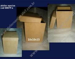 caixa com tampa de encaixe interno