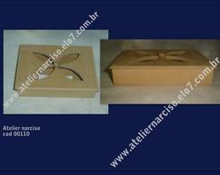 caixa com tampa recorte vazado ( flor)