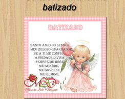 Cart�o para lembrancinha Batizado Menina