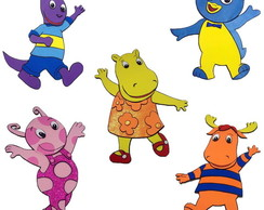 Personagens dos Backyardigans - painel
