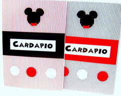 CARD�PIO MICKEY OU MINNIE