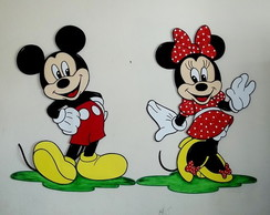 Mickey e Minnie Mouse c/ 60 cm - Painel