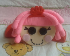 Porta guardanapo Lalaloopsy em biscuit.