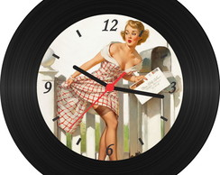 Rel�gio de Vinil - Pin Up 008