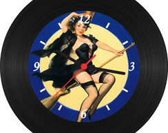 Rel�gio de Vinil - Pin Up 009