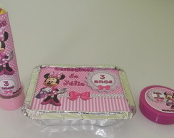Kit Personalizado Minnie Rosa 3 Pcs