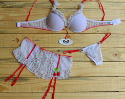 Conjunto cerejinha 3 pe�as
