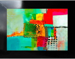 QUADRO DECORATIVO - ABSTRATO 01