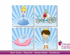 Quadros Decorativos - Cinderela Cute