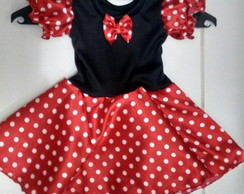 fantasia Minnie com tiara