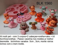 molde silicone multi pet