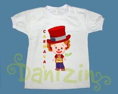 T-Shirt Beb� e Infantil CARNAVAL MASCOTE