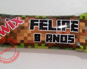 Chocolate Mini Twix Personalizado