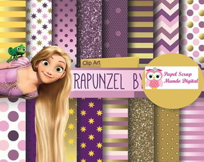 papel digital 23-14 rapunzel