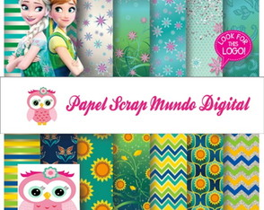 papel digital frozen girassol 25-4