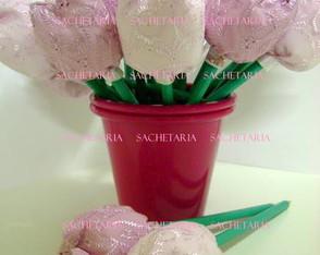Vasinho com 20 L�pis TULIPA (rosa)
