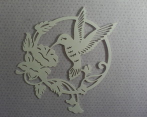 R 004  Recorte de parede Beija-flor
