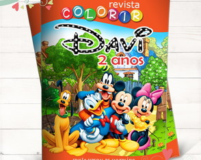 Revista Colorir Turma do Mickey