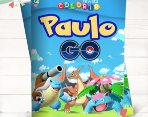 Revista Colorir Pokemon Go