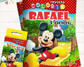 Kit Revista + Giz Mickey
