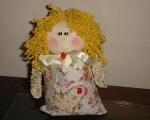 boneca apoio de porta de tecido