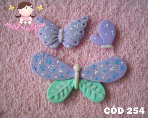 C�d 254 Molde de borboletas